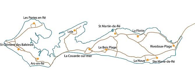 carte détaillée ile de ré Carte de l'île de Ré